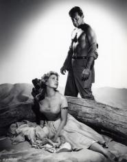 "William Holden and Kim Novak, ""Picnic"", 1956, 13-1/4 x 10-3/8 Vintage Silver Gelatin Photograph"