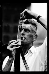 Sameul Beckett with Film, New York, 1964, Silver Gelatin Photograph