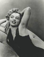 Marilyn Monroe (Sitting with Black Dress), 1953, 14 x 11 Silver Gelatin Photograph