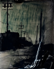 Los Angeles Alley, Unique Collodion Wet Plate: please contact the gallery for details