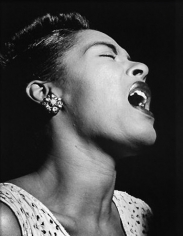 Portrait of Billie Holiday, Downbeat, New York, NY, c. February 1947, 20 x 16 Silver Gelatin Photograph