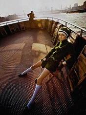 Twiggy, Staten Island Ferry, New York, 1967