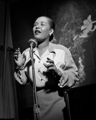 Billie Holiday (with Smoke), New York City, 1949, 14 x 11 Silver Gelatin Photograph