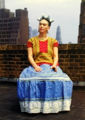 Frida Kahlo in New York, 1946, 22 x 17-1/2 Carbon Pigment Color Photograph, Ed. 30