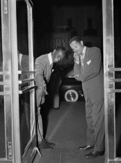 Billy Eckstine & Nat King Cole, Royal Roost, New York City, 1948, 14 x 11 Silver Gelatin Photograph