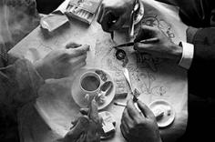 Hands of Four Artists, Illustration for ELLE, Paris, France, 1960