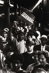 March on Washington demonstrators (with signs), 1963