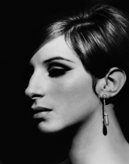 Barbra Streisand, Pearl Earring, Los Angeles, 1967, Silver Gelatin Photograph