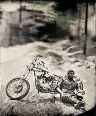 Biker, Los Angeles, Unique Collodion Wet Plate: please contact the gallery for details