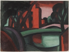 Oscar Bluemner (1867-1938), Port at James Street, Bloomfield, 1922