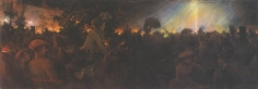Charles Courtney Curran (1861-1942), Evening Illumination at the Paris Exposition, 1889