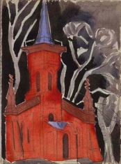 Oscar Bluemner (1867-1938), Church in Newark, South of Mercer Street, 1925