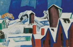 Oscar Bluemner (1867-1938), Canal, Paterson, 1916