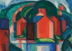 Oscar Bluemner (1867-1938), Sparkill, Red Mountain Farm, 1920