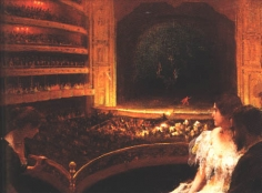 Charles Courtney Curran (1861-1942), At the Theatre, 1891
