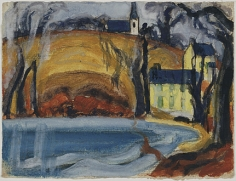 Oscar Bluemner (1867-1938), Davies Pond, Bloomfield, 1918
