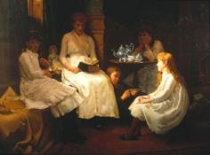 Dennis Miller Bunker (1861-1890), A Winter's Tale of Sprites and Goblins, 1886