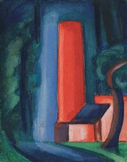 Oscar Bluemner (1867-1938), Red Smokestack, circa 1928
