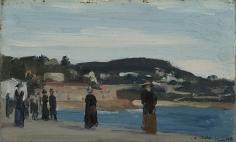 Charles Sheeler (1883-1965), Promenade Along the Beach, Nice, 1909