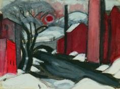 """Oscar Bluemner (1867-1938), Study """"Winter Sun"""" Mill Creek, Elizabeth, 1925"""