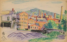 """Oscar Bluemner (1867-1938), Study for """"Jersey Silkmills, Paterson,"""" 1911"""