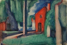 Oscar Bluemner (1867-1938), Bloomfield Lock, 1917