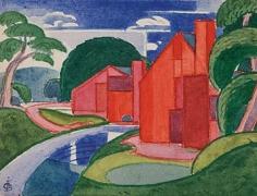 "Oscar Bluemner (1867-1938), Tars, Azlo ""Flach"" Soho Fat Mill, 1920"