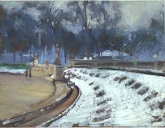 Alson Skinner Clark (1876-1949), Snow in the Luxembourg Gardens, 1903