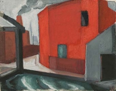 Oscar Bluemner (1867-1938), Study for 'Secluded Spot – Red Amidst Grey', 1917