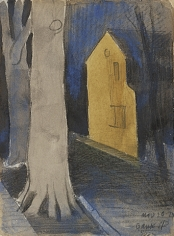 Oscar Bluemner (1867-1938), Yellow House on Bank Street, Elizabeth, 1924