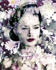 Valérie Belin Painted Daisy Carmine Bluh Chrysanths