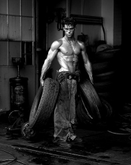 herb ritts fred with tires hollywood