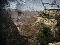 Abelardo Morell Tent-Camera Image on Ground View of the Grand Canyon from Trailview Overlook