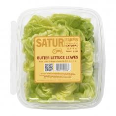 Butter Lettuce Leaves in Retail Clamshell Pack