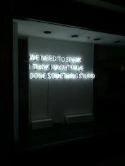 Tim Etchells, We Need to Speak, 2015, neon, 20 x 72 inches