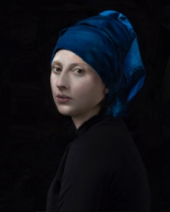 Hendrik Kerstens, Blue Turban, 2017, raw / color negative 4/5 inch ultrachrome, available as 24 x 20 inches, 40 x 30 inches, 60 x 48 inches, and 72 x 60 inches