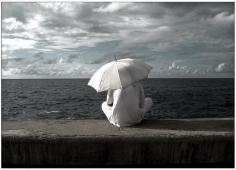 """De la serie """"Malecon"""" Havana Coastline 2004-2005 El santero Baryta archival fine art 20"""" x 16"""""""