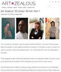 Art Zealous' 30 Under 30-ish: Part 1