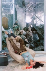 MARTHA ROSLER Lounging Woman, from the series House Beautiful: Bringing the War Home, New Series