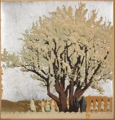 Gustave Baumann Procession Color Woodblock Print