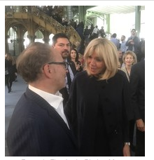 In Paris, Edward Tyler Nahem, NYC Gallery Owner, Greeted by France's First Lady, Brigette Macron, at FIAC 2017