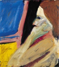 Richard Diebenkorn Girl in Profile, 1962