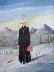 George Condo Priest in Snow, 2004