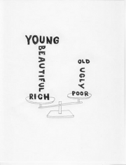 Young And Old, 2009. Graphite on paper, 11 x 8 1/2 inches (27.9 x 19.1 cm)