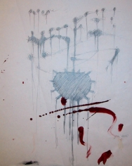 Study for Blood of God, 1987. Ink and graphite on paper, 17 x 14 inches. MP D-326