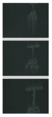 Pump Fall, 2010. Pigment and charcoal on paper, 3 panels, 19 x 25 inches (each) (48.3 x 63.5 cm). MP D-391