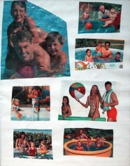 Mike Kelley, Timothy Leary's Family Counseling Center, 1995. Collage on paper, 14 x 10-5/8 inches. MP 9534