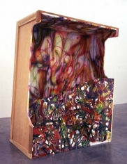 Cargo Cult Barbie #2, 2005. Wood, acrylic and oil, 69 x 49.5 x 31 inches (175.3 x 125.7 x 78.7 cm). MP 159