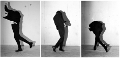 Robert Longo, Untitled (Men in the Cities), 1979 / 2009. Set of three black and white photos, 20 x 16 inches (paper) (50.8 x 40.6 cm). Edition of 10. MP P-23