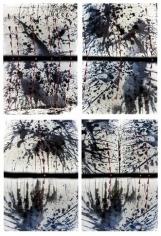 Fait Accompli/Bleach Inversion  1+2+3+4, 2007. 4 lambda printed mounted to plexi-glass, 70 x 48 inches each (177.8 x 121.9 cm).